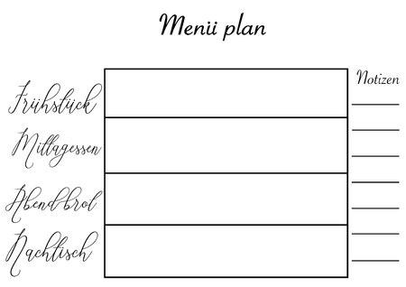 Wochenplaner . Einfacher Und Moderner Design Mit Platz Für Notizen ...