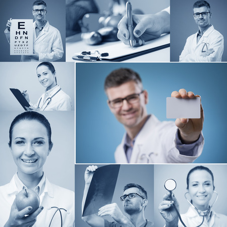 A Collage of 8 various medical images photo