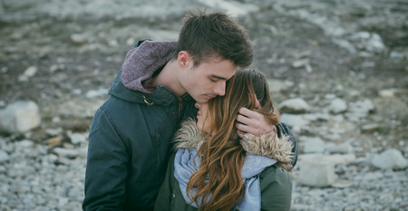 Romantic teen couple