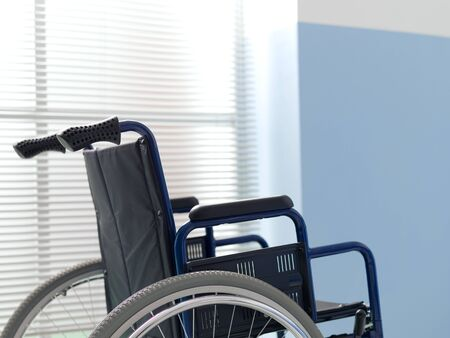 Wheelchair at the hospital: disability and handicap concept 版權商用圖片 - 147901001