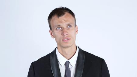 ビジネス プランを考えている男性の肖像画