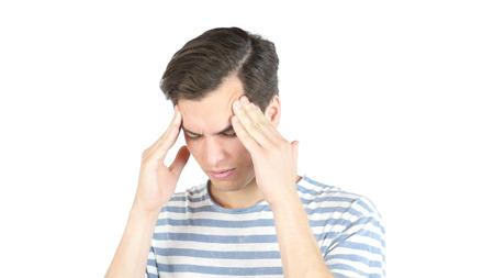 Serious man getting a headache