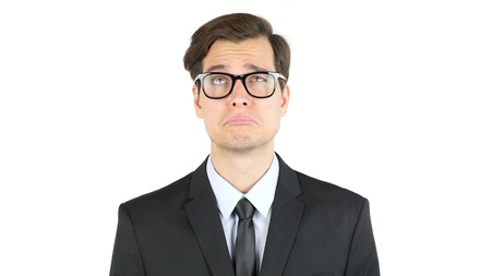 Tired and sad businessman, fired Stock Photo