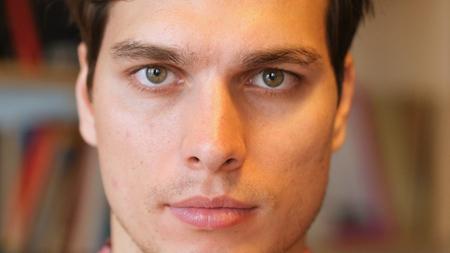 Close Up of Man Face