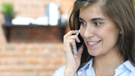 Close Up of Girl Talking on Phone, Negotiation