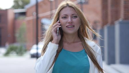Outdoor Girl Talking on Phone, Smartphone
