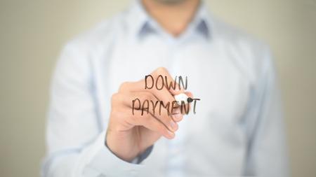 지불금, 투명 스크린에 사람 쓰기