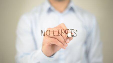 No Limits,  Man writing on transparent screen Imagens
