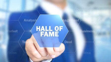 Hall Of Fame, Man Working on Holographic Interface, Visual Screen
