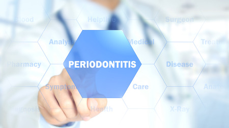 Periodontitis, Doctor working on holographic interface, Motion Graphics Stock Photo - 87882377