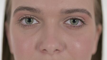 Close up of Blinking Eyes of Young Female