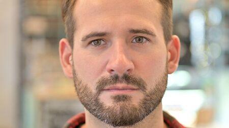 Close up of Beard Young Man