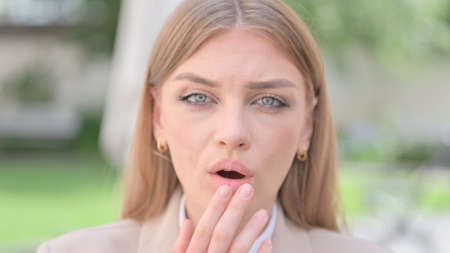 Face Close up of Shocked Businesswoman