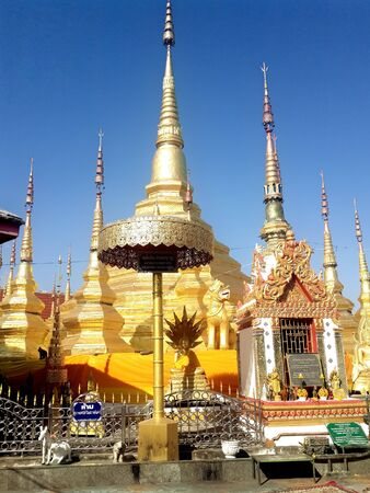 The temple that sacred places of worship in northern part of Thailand