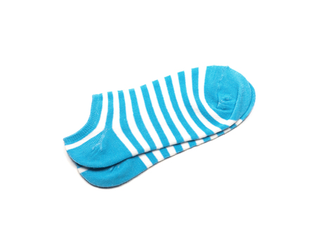 Blue Sock, Isolated on a white background.