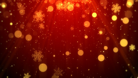 Christmas background (red theme) with snowflakes, shiny lights in stylish and elegant theme.