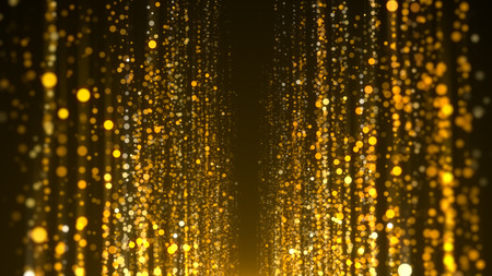 Gold particles awards background