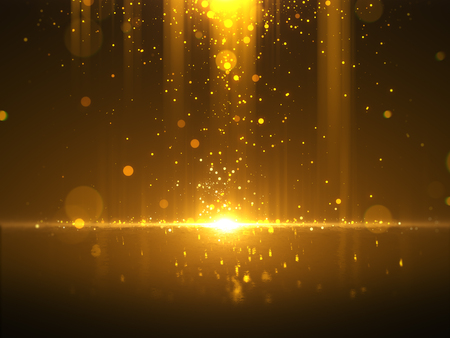 Golden bokeh glamour abstract background Фото со стока