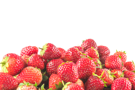 Stack of strawberries isolated on white background Reklamní fotografie