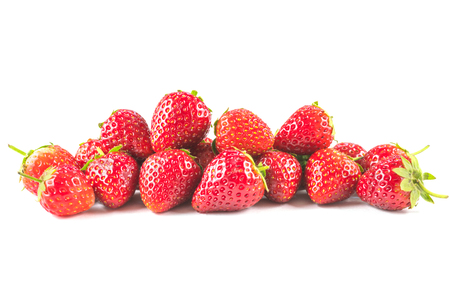 Strawberries heap isolated on white background Reklamní fotografie