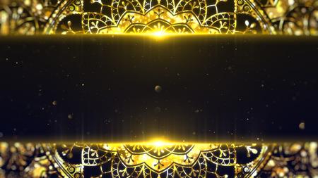 Ramadan kareem frame with copyspace.