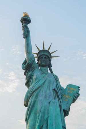 Close up statue of liberty.