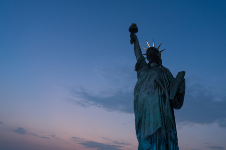 Statue of liberty with space for your text.