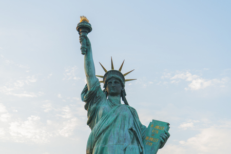 Close up of statue of liberty.