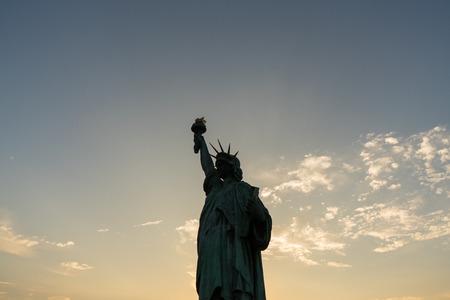 Statue of liberty on background of evening sky. Reklamní fotografie