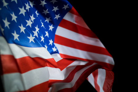 Image of American flag blowing in the wind for Independence day and Memorial day. Reklamní fotografie