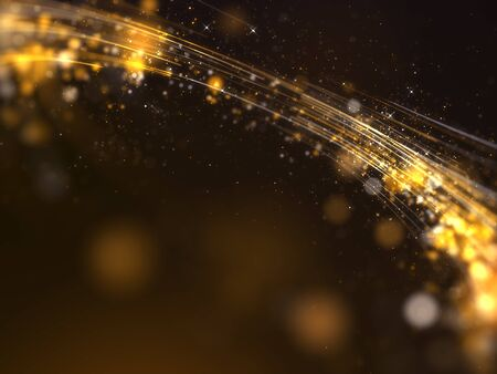 Gold awards with particles stripe background. Stock Photo