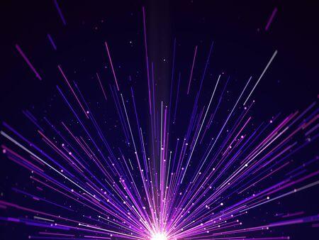 Purple light lines elegant abstract background. Stock Photo