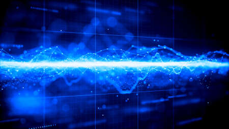 Futuristic digital technology network graphic background.