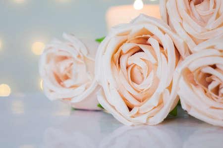 Romantic pastel rose for love or valentine theme. Фото со стока - 163285627