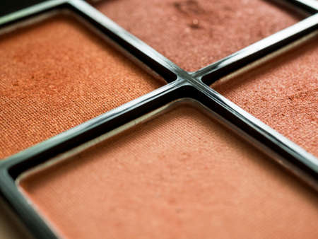 Close up of eye shadow in palette.
