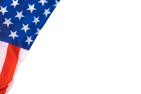 Top view of american flag Фото со стока