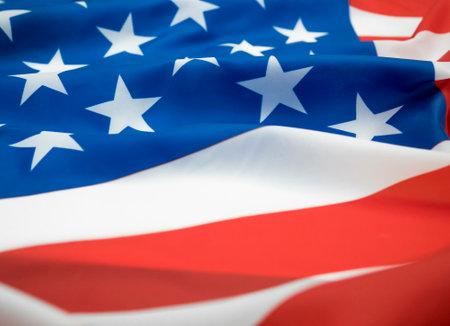Close up waving of American flag.