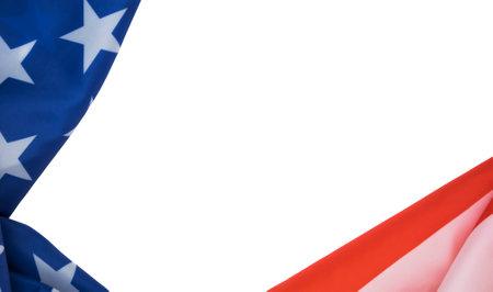 Flag of USA on a white
