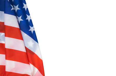 American flag isolated for july 4 independence and memorial day.