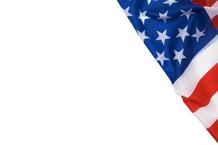 United States Flag isolated on white