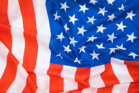 American flag waving abstract background.