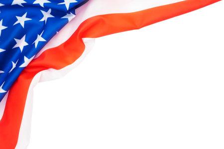 USA flag on white background.