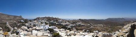 chora: Amorgos Chora panoramic view, Cyclades, Greece