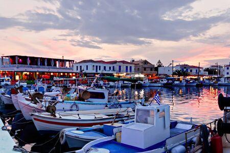 Elafonissos village and port at sunset photo
