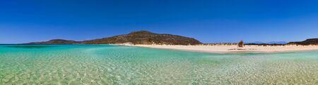 Panoramic view of Elafonissos beach, Peloponnese, Greece photo
