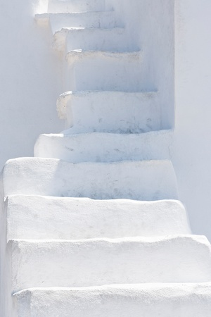 cyclades: White stairs in Cyclades islands