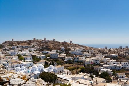 chora: Amorgos village view, Cyclades, Greece