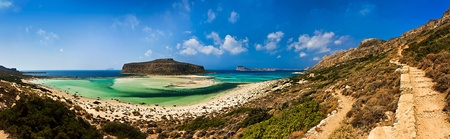 Balos beach and lagoon, Crete, Greece photo