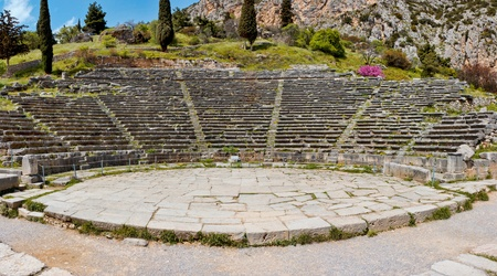 Ancient theater of Delphi, Greece photo