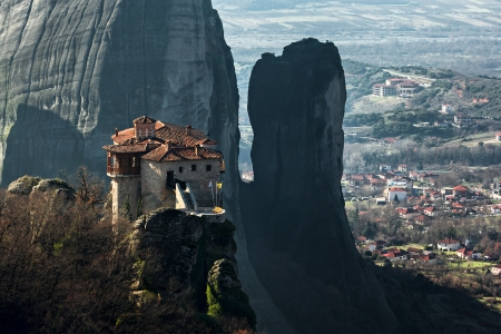 Meteora monastery and rock formations, Greece